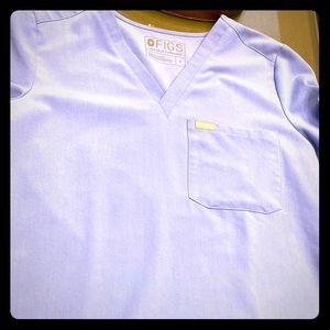 Figs seal blue scrub set . Sz small pant hemmed